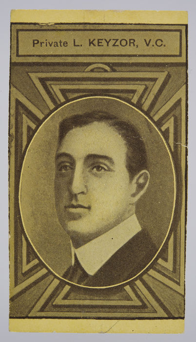 Cigarette card depicting Private Leonard Keyzer V.C. ©Jewish Museum London/Jewish Military Museum