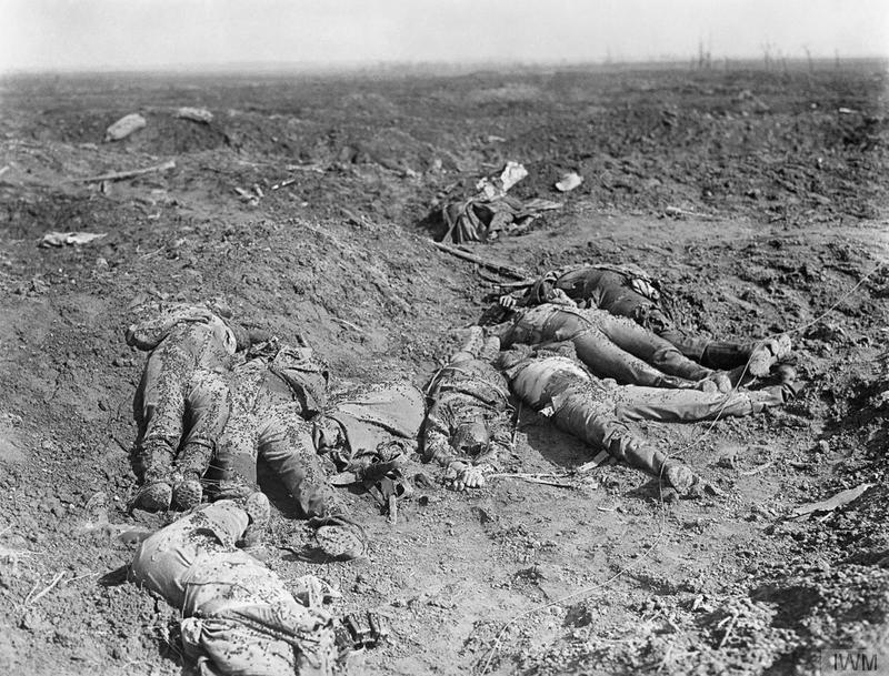 The Battle of the Somme. Dead German soldiers on the battlefield, October 1916. © IWM (CO 940)