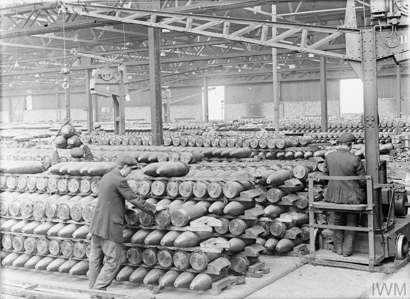 Colony of Belgian workers. National Projectile Factory at Birtley-Elisabethville Co. Durham. 1918. IWM (Q 27737)