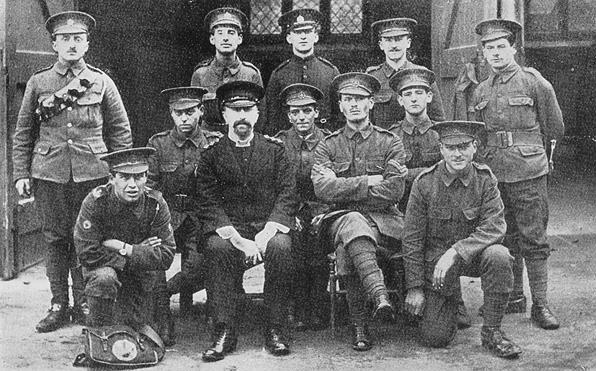 Rev Michael Adler with the 17th London Regiment at Hatfield, 1914