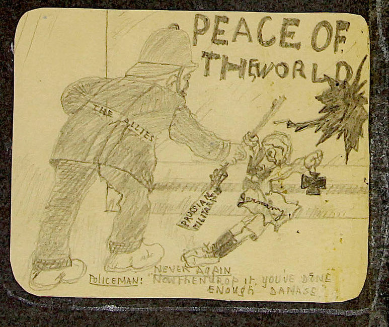Gerald Gundle. Peace of the world. Sketch. Younger Members Organisation of the Liberal Jewish Synagogue. 1915