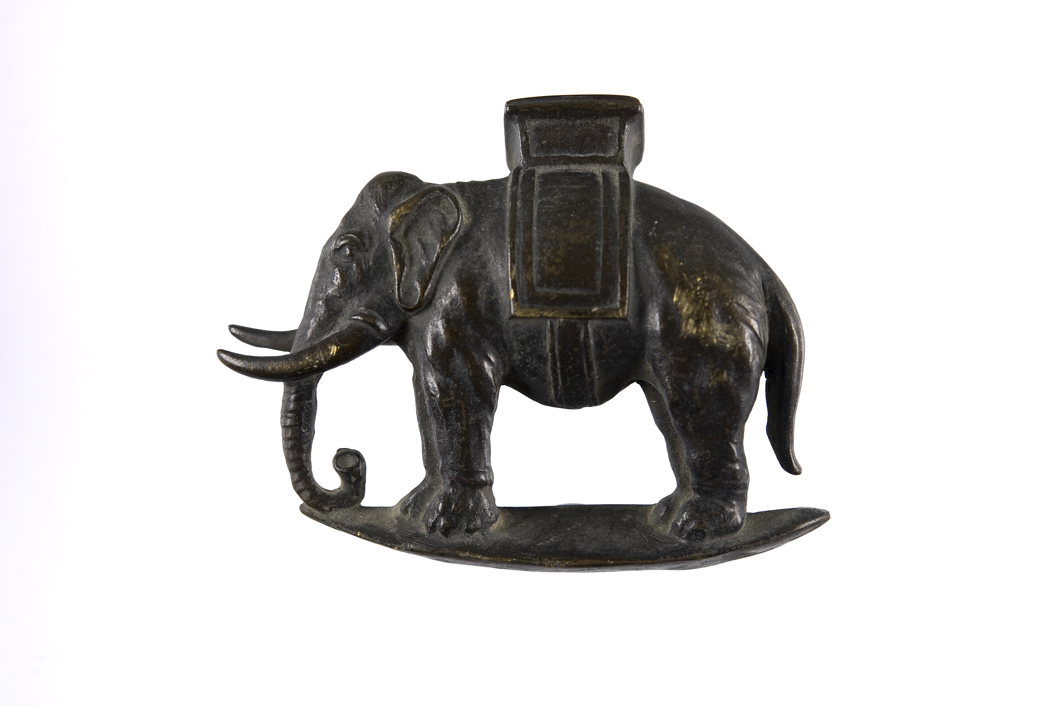 Brass elephant from the memorial stone to 2nd Lt. Braham Alfred Franks who was killed in Gallipoli 23/10/15 at Sulva Bay aged 22. ©Jewish Museum London/Jewish Military Museum