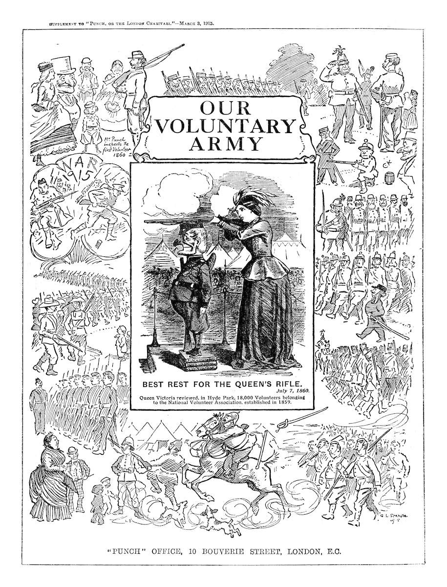 Our voluntary army. Punch magazine, March 1915. © Punch Limited