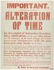 Alteration of time, poster. 1916. © IWM (Art.IWM PST 6363)