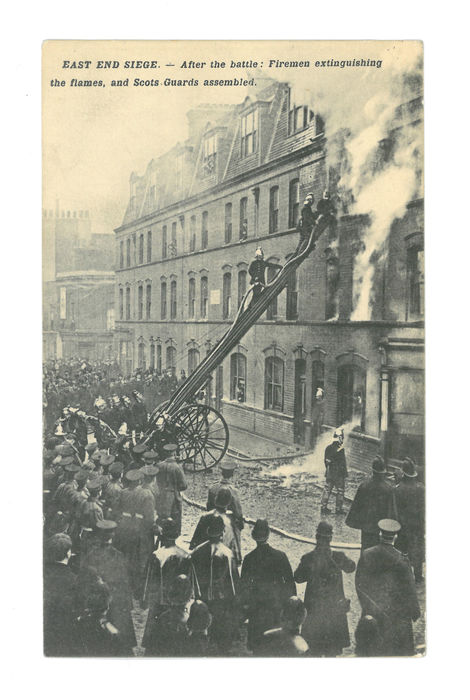 The Anarchists' house on fire