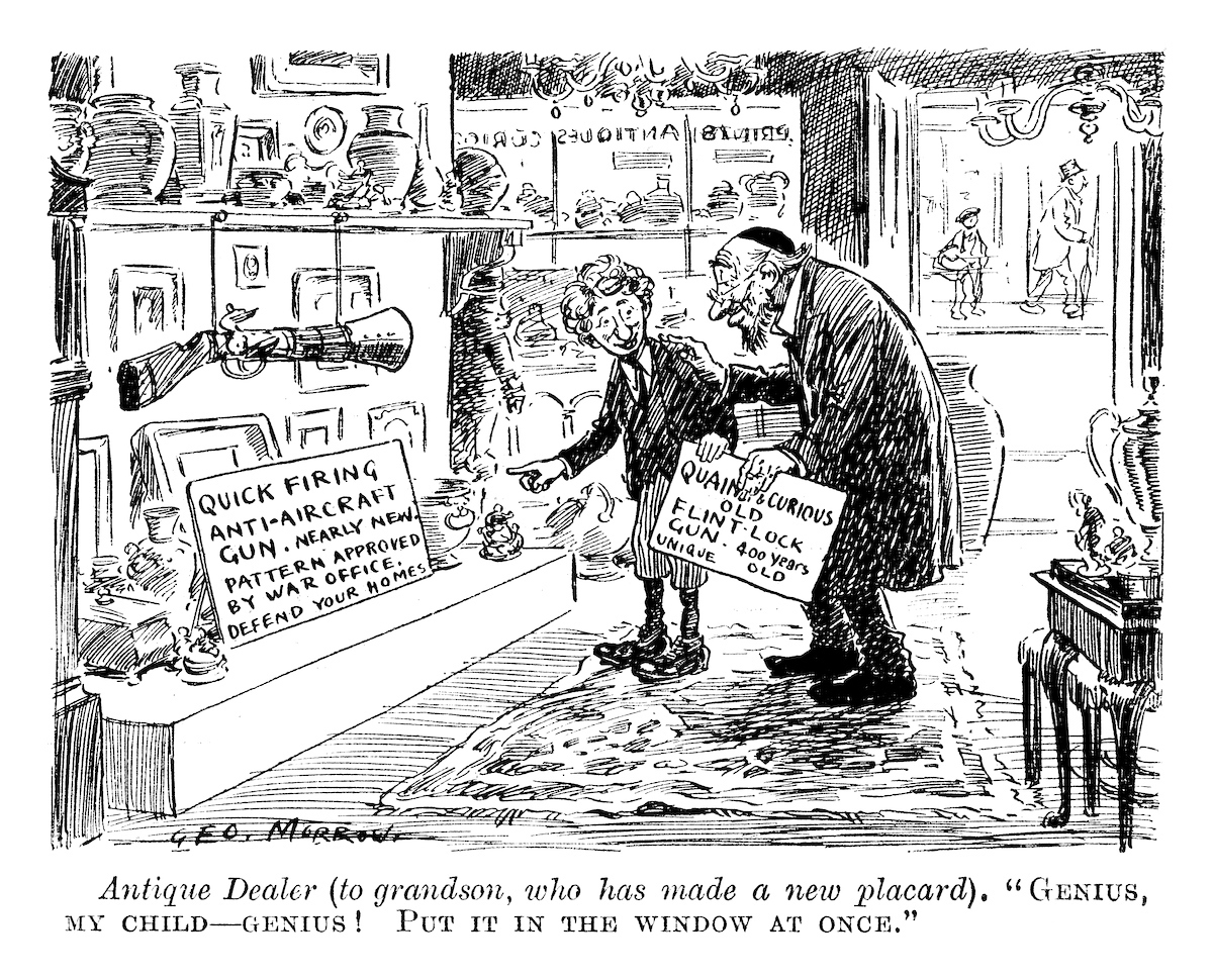 Antique Dealer. Punch magazine, June 1915. © Punch Limited