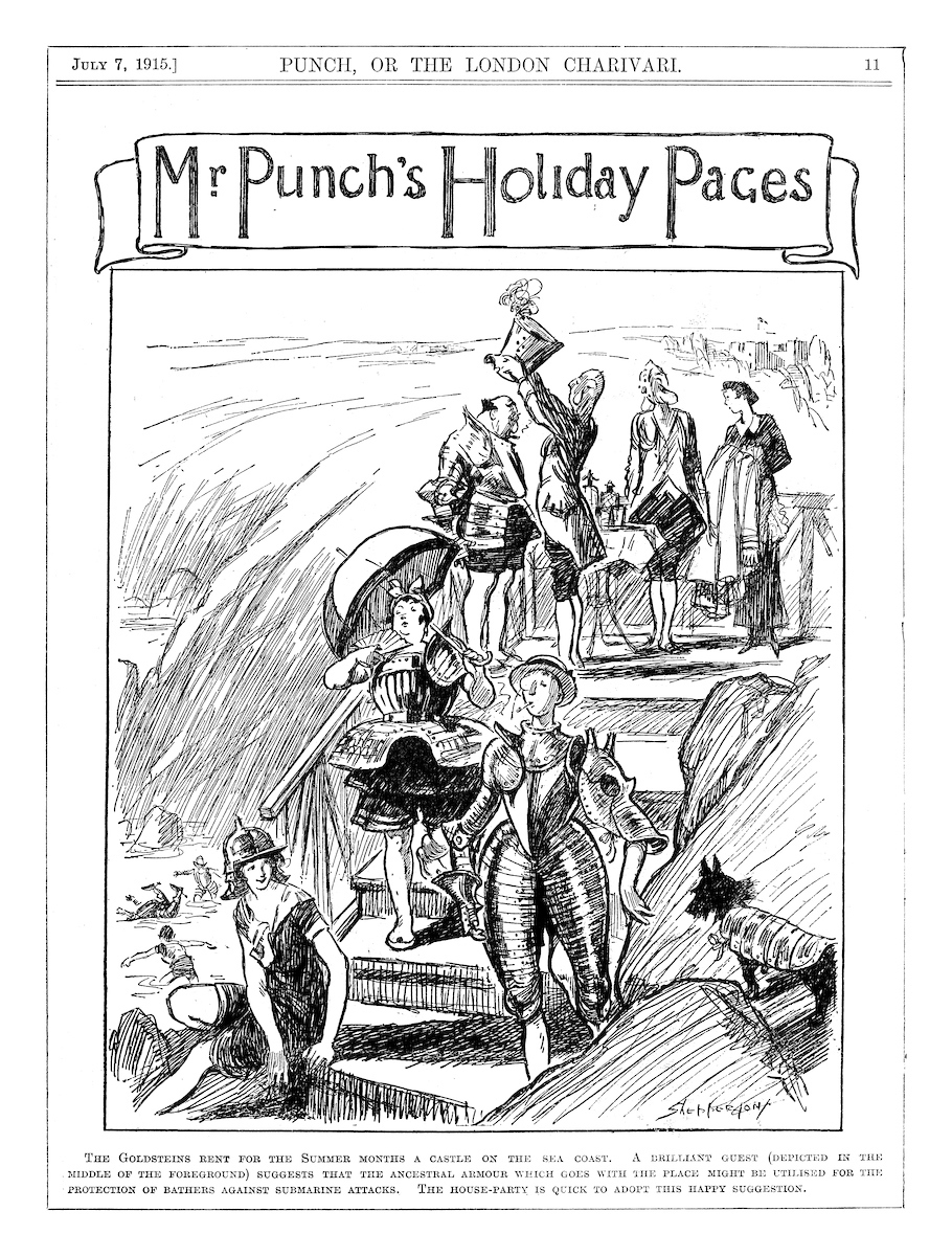 Mr. Punch's Holidays Pages. Punch magazine, July 1915. © Punch Limited