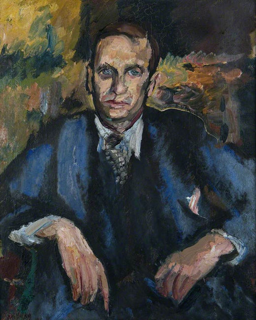 Portrait of John Rodker by David Bomberg. © Ben Uri
