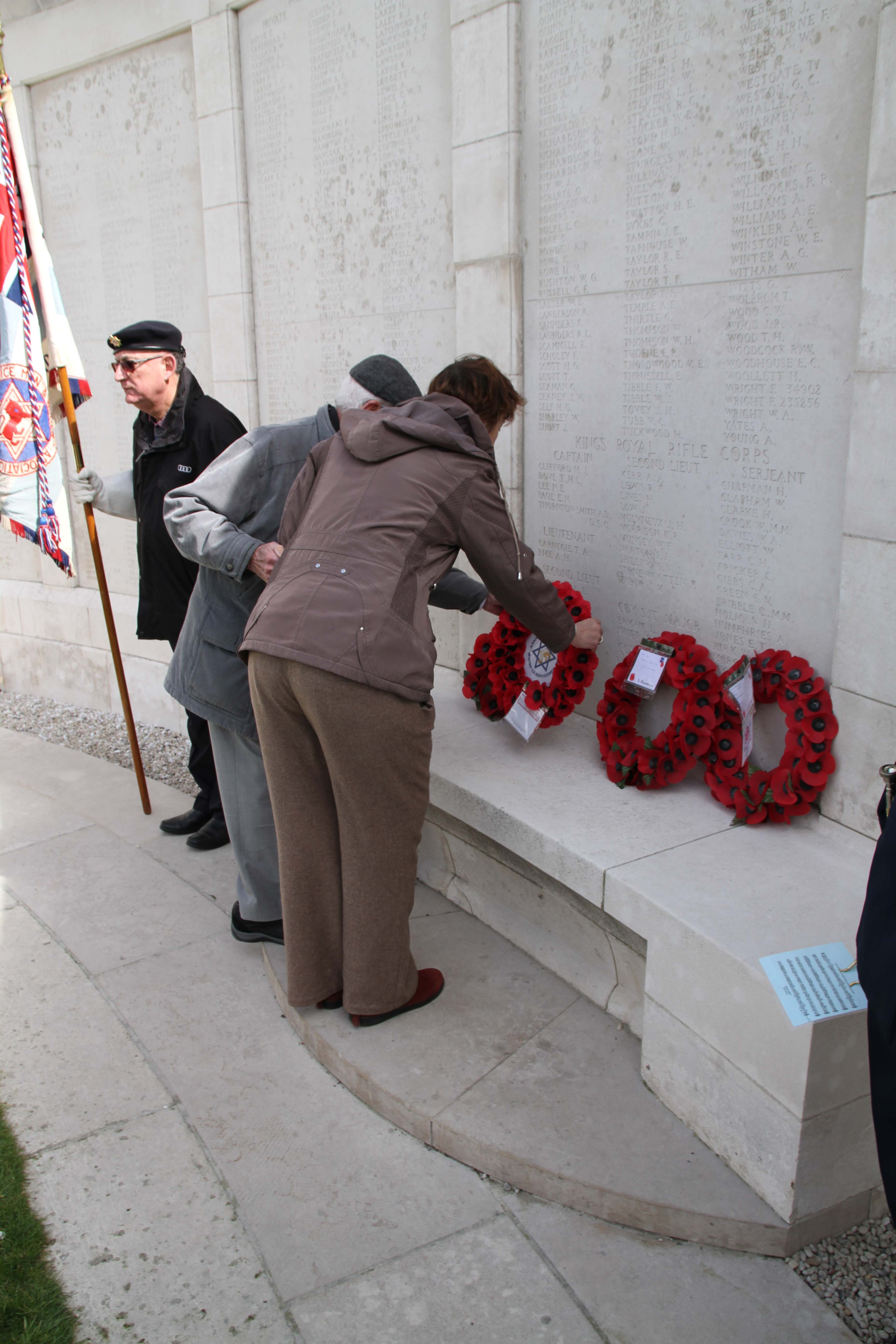 Tyne Cot CWGC Cemetery wreath laying. We Were There Too trip to Ypres, April 2017. By Alan Brill, Voluntary Photographer