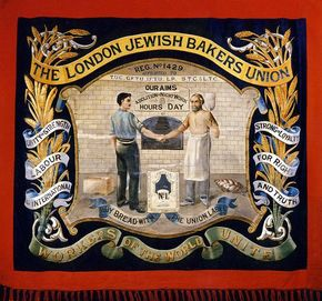 London Jewish Bakers' Union banner. 1925 - 1926. ©Jewish Museum London