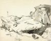 The remains of a destroyed British male tank. Orpen, William. 1917 © IWM (Art.IWM ART 2389)