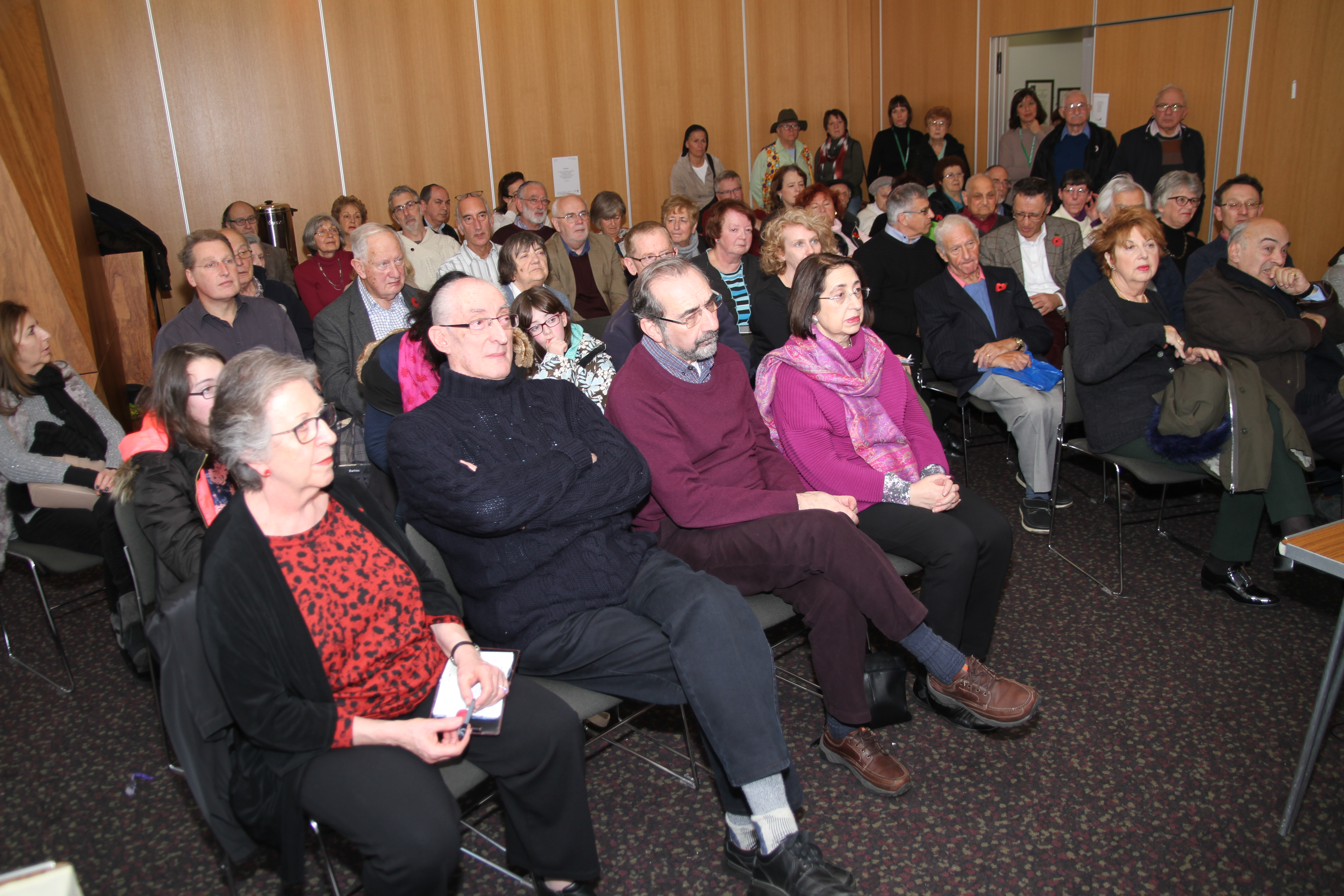 Roadshow 13/11/2016, New North London Synagogue. Audience