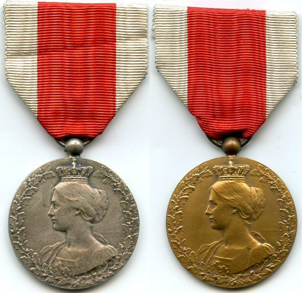 Commemorative Medal of the National Committee for the Aid and Food. 3rd and 4th classes. Belgium.
